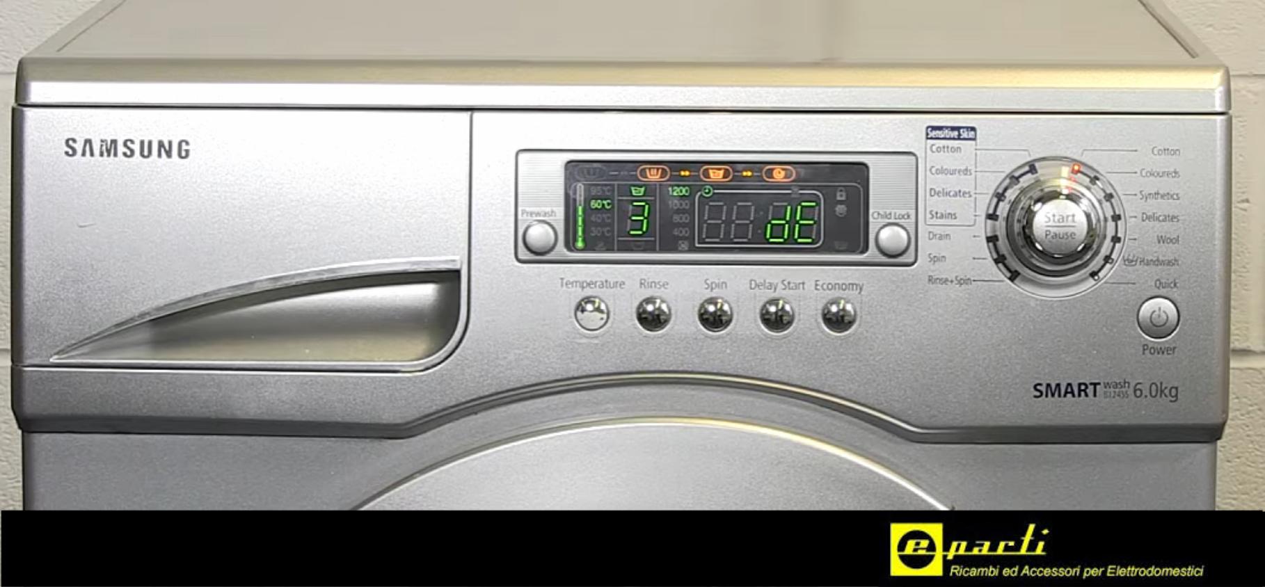 Centro Consigli Codici Di Errore Delle Lavatrici Samsung