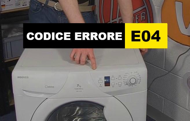 codice errore E04