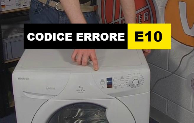 codice errore E10