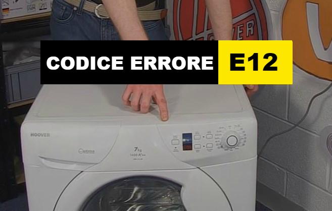 codice errore E12