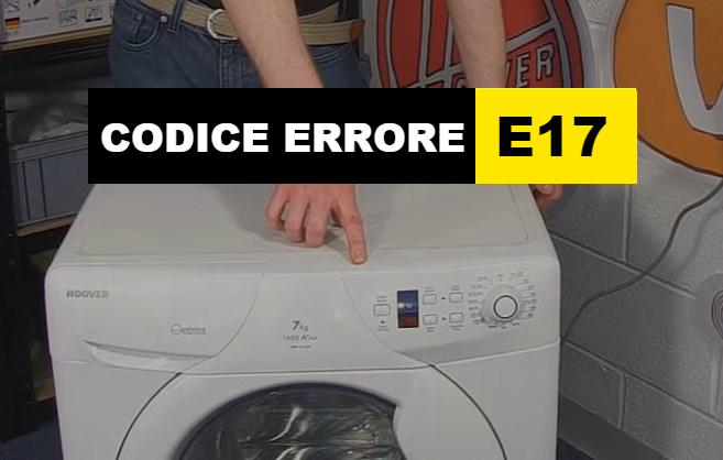 codice errore E17