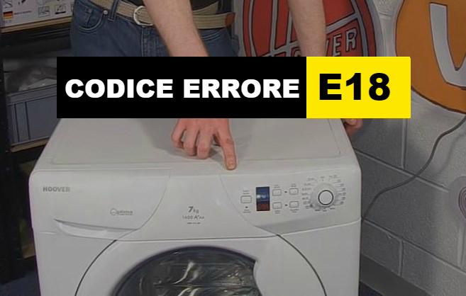 codice errore E18